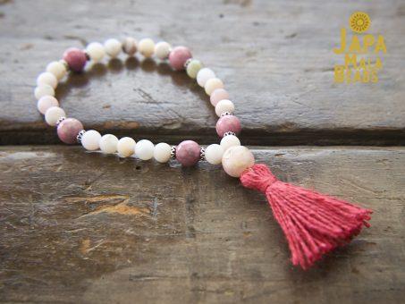 Opal and Rhodonite Hand Mala Beads
