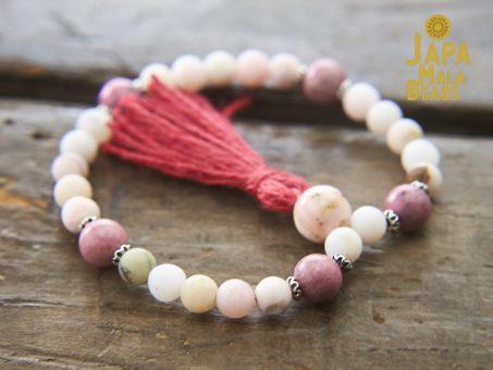 Pink Opal and Rhodonite Wrist Mala