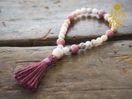 Opal and Rhodonite Bracelet Prayer Beads