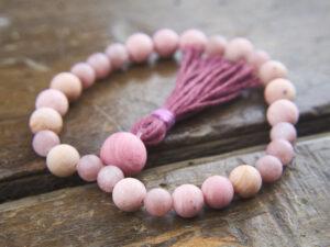 Rhodochrosite Purple Aventurine bracelet mala