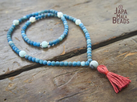 Apatite and Amazonite Necklace Mala