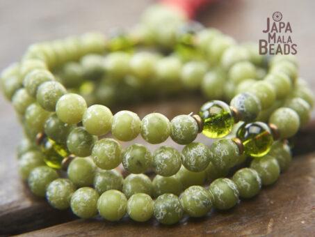 Jade and Peridot 108 Mala Beads