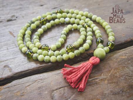 Jade and Peridot Full Mala