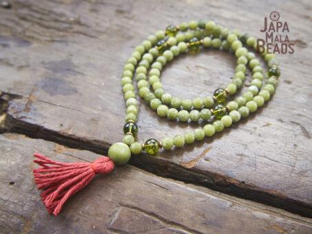Jade and Peridot Necklace Mala