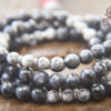 Sesame Jasper and Blue Labradorite 108 Mala Beads