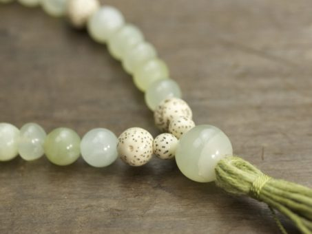 New Jade and Lotus Seed Mala
