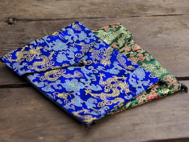 Dragon Brocade Large Mala Bag