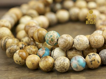 Picture Jasper and Magnesite Full Mala