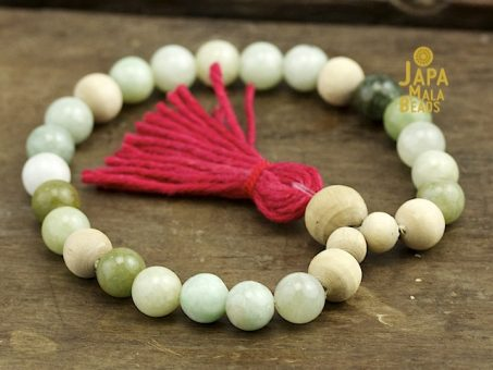 Jadeite and Tulsi Mala