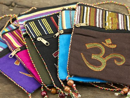 Embroidered Om Large Mala Bag