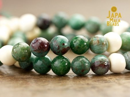 African Jade and Bone Mala