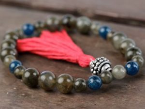 Labradorite and Apatite Mala