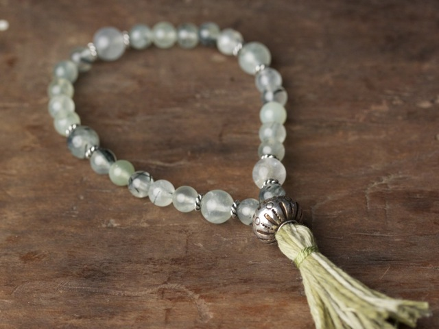 Green Tourmalated Quartz Mala