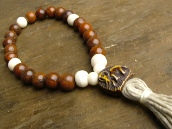 Poppy Jasper and Bone Mala