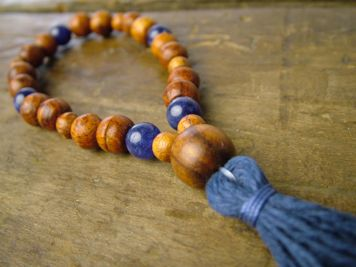 Rosewood and Sodalite Mala