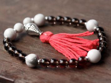 Howlite and Smoky Quartz Mala
