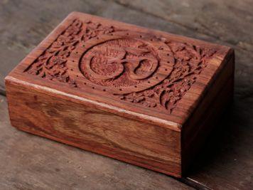 Carved Om Mala Box
