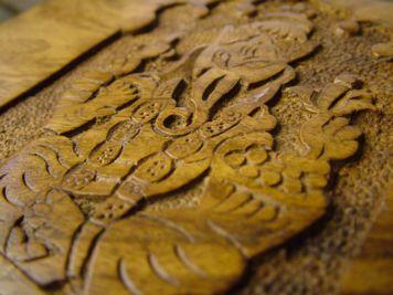 Carved Ganesha Mala Box