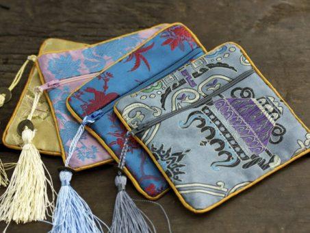 Asian Brocade Coin Bag