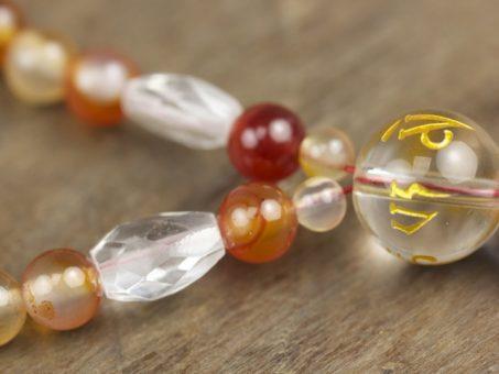 Agate and Crystal Quartz Full Mala
