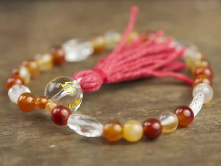 Agate and Crystal Quartz Mala